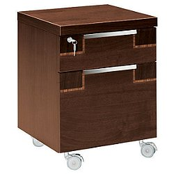 Pisa 2 Drawer Office Pedestal w/ Wheels