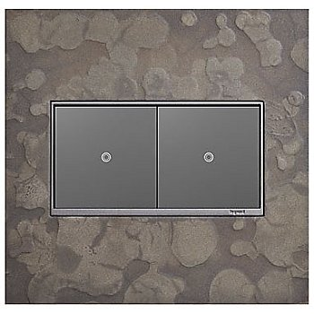 Shown in Burnished Steel finish, 2 Gang