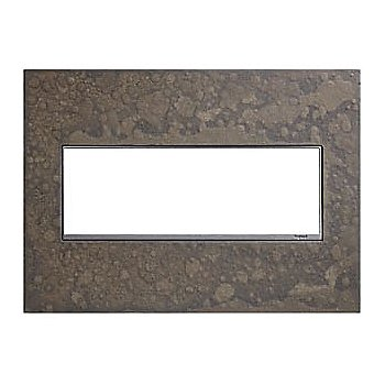 Shown in Burnished Steel finish, 3 Gang