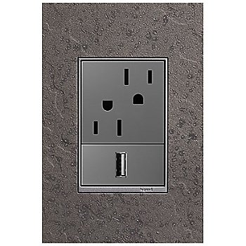 Natural Iron finish, pictured with 2-Module Outlet and USB Outlet