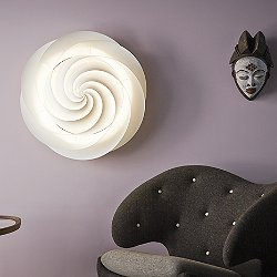 Swirl Ceiling Wall Light