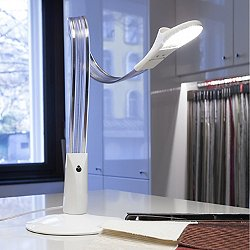 Ribbon LED Table Lamp (Glossy White) - OPEN BOX RETURN