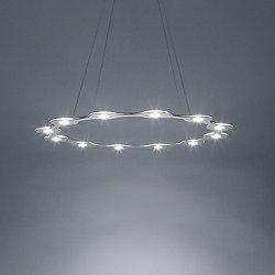 Flat Ring 12 LED Pendant Light