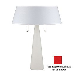 Lizzy Table Lamp (Bisque/Red Dupioni) - OPEN BOX RETURN