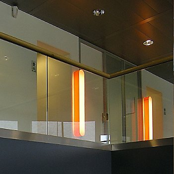 I-Club Large Wall/Ceiling Light, in use, illuminated