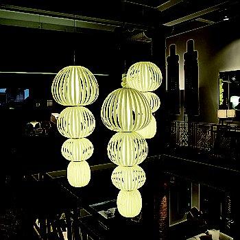 Totem 4 Suspension Light with Totem 3 Suspension Light
