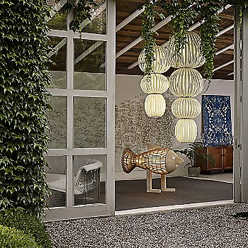 Ivory White, in use in living room with Totem 3 Suspension Light