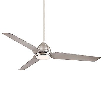 Brushed Nickel Wet Fan Body and Blade Finish