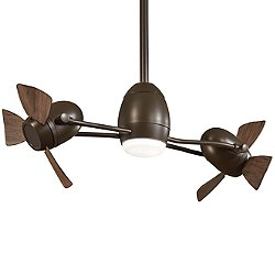 Cage Free Gyro LED Ceiling Fan