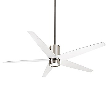 Shown in Brushed Nickel with White Blades finish