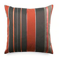 Repeat Classic Stripe Pillow, Poppy - OPEN BOX RETURN