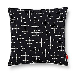 Small Dot Pattern Pillow, Black