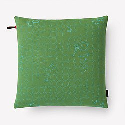 Layers Vineyard Small Pillow, Jade/Turquoise