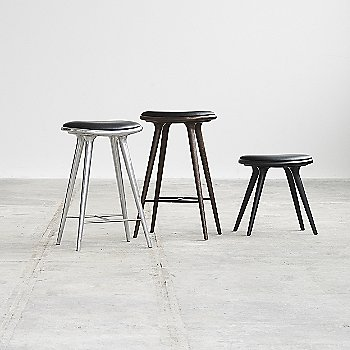 High Stool with High Stool - Aluminum and Low Stool