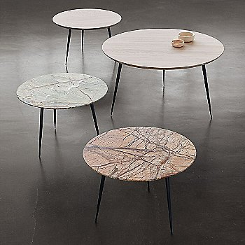 Disc Side Table, Marble, Collection