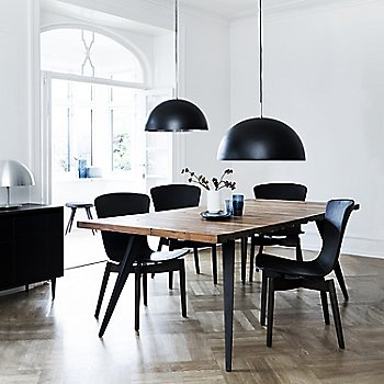 Shown in use with the Lignia Dining table and the Shell Dining Chairs (sold separately)
