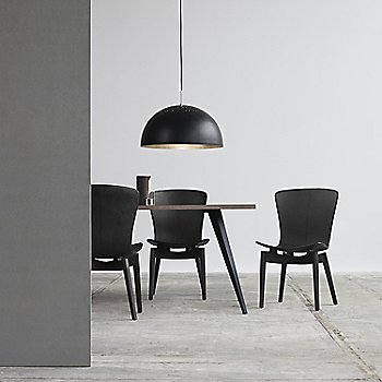 Pictured with the Lignia Dining table and the Shell Dining Chairs (sold separately)