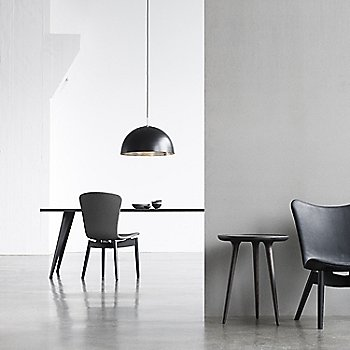 Pictured with the Lignia Dining Table, Shell Dining Chair, Shade Lounge Chair and the Accent Side Table (sold separately)
