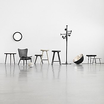 Pictured with the Accent Side Table, Shell Lounge Chair, Sophie Mirror, Space Stool, Terho Lamp, Trumpet Coat Stand, Bowl Table and Disc Table (sold separately)