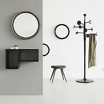 Pictured with the Premium Space Stool, Low and the Trumpet Coat Stand (sold separately)