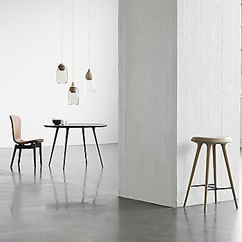Pictured with the Shell Dining Chair and the Premium Space Stool, High (sold separately)