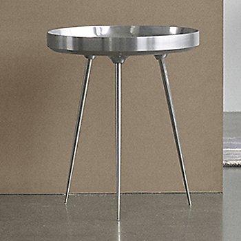 Bowl Table, Polished Aluminum