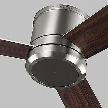 Shown in Brushed Steel with American Walnut finish and light cap