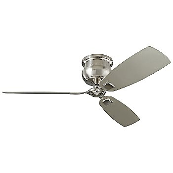 Shown in Brushed Steel with Silver blades