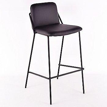 Black, Black Eco-Leather
