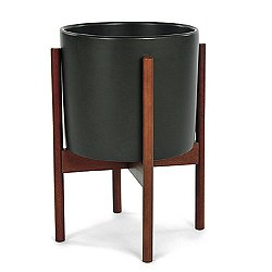 Case Study Planter with Wood Stand (S/13/Char) - OPEN BOX