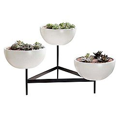 Case Study Ceramic Bowls with Metal Tri-Stand