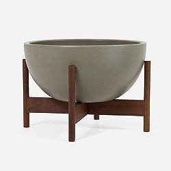 Case Study Ceramic Bowl with Wood Stand