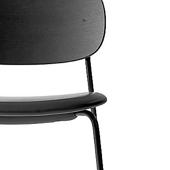 Dakar Leather: Black Seat Material / Black Oak Veneer Frame finish