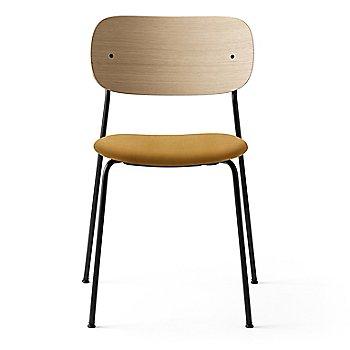 City Velvet: Orange Seat Material / Natural Oak Veneer Frame finish