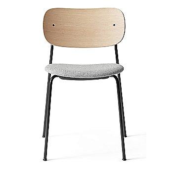 City Velvet: Grey Seat Material / Natural Oak Veneer Frame finish