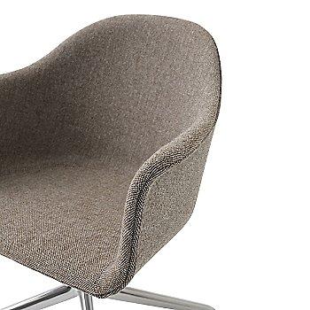 Aluminum Swivel Legs / City Velvet: Grey fabric / Detail view