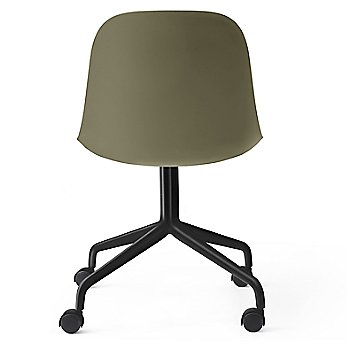 Black Swivel with Casters Legs / Olive finish