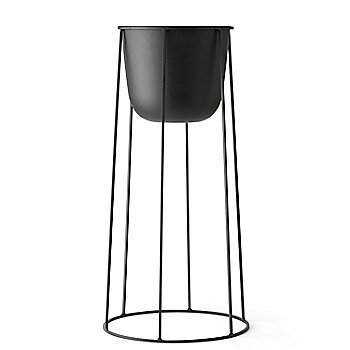 Post with Large Wire Base/Black