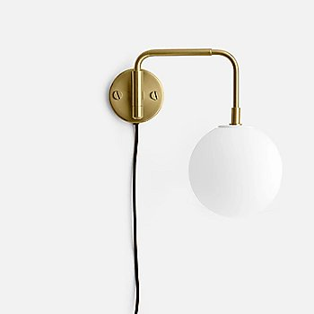 Brass with One Matte Bulb finish