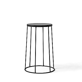 Wire Series Marble Top Side Table Stand