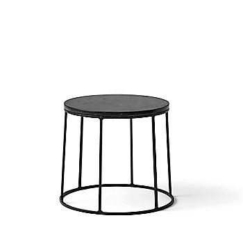 Wire Series Marble Top Side Table Stand Small Black ...
