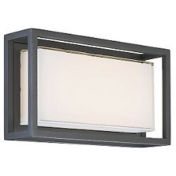 Framed LED Outdoor Wall Sconce