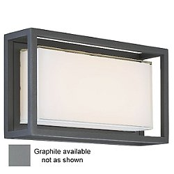 Framed LED Outdoor Wall Light (Graphite/Medium) - OPEN BOX