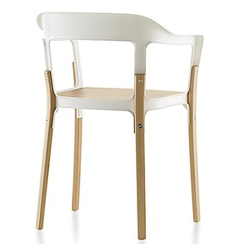 Natural Beech Seat/Legs with White Frame finish