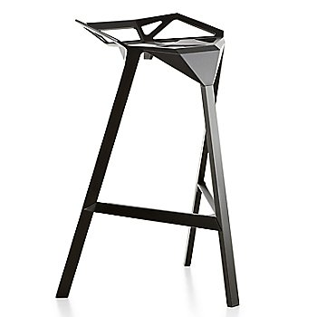 Barstool, Black/Anodised Aluminum Black Legs