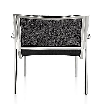 Polished Aluminum Frame/Black Poly Cotton Seating finish / Rear view