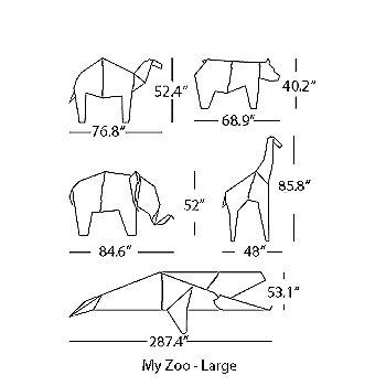 Schematic large animals