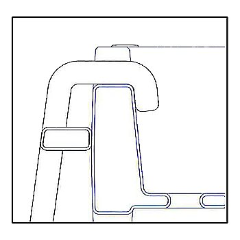 Schematic of ladder hook
