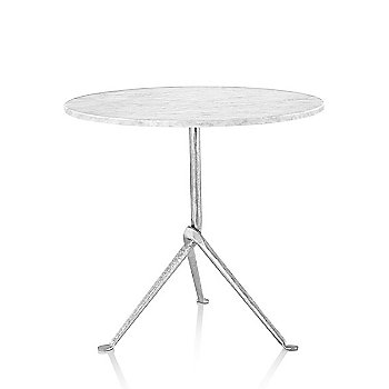 Carrara Marble table top finish with Galvanized frame finish