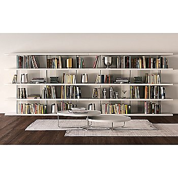Beekman Bookcase with Adelphi Nesting Coffee Tables, Set of 2